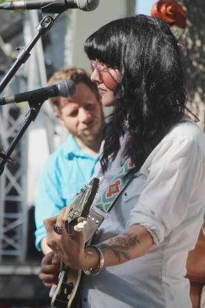 Shaela Miller and Paul Holden at Wide Skies music Festival, July 26. Photo by Richard Amery