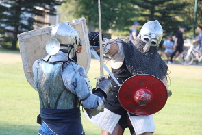 The Lethbridge Medieval Club will be fighting and teaching at the Windy Castle medieval Faire, July 29-30. Photo by Richard Amery