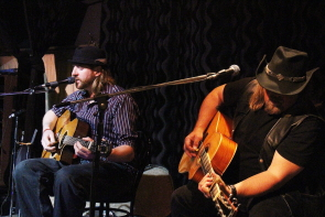 Greg Gomola and Paul Kype playing an acoustic Zojo Black set. Photo by Richard Amery