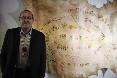 Ira Provost is excited about his new exhibit Winter Count at the Galt Museum. Photo by Richard Amery